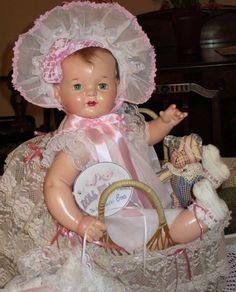 "BEAUTIFUL 23"" VINTAGE 1930s EFFANBEE SUGAR BABY COMPOSITION DOLL"
