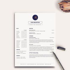 Modern Resume and Cover Letter Template for Word   Instant Digital Download   DIY Printable 3 Pack   The Bijou   Creative Resume Design by PixelandFolds on Etsy https://www.etsy.com/listing/235698051/modern-resume-and-cover-letter-template