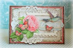 A beautiful Botanical Tea card by Romy - beautiful layers! #graphic45 #cards