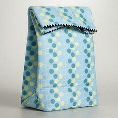 WorldMarket.com: Blue Neoprene Lunch Bag