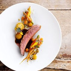 Duck à l'orange by @martijndefauw #TheArtOfPlating Duck Recipes, Gourmet Recipes, Cooking Recipes, Gourmet Food Plating, Michelin Star Food, Molecular Gastronomy, Teller, Culinary Arts, Creative Food