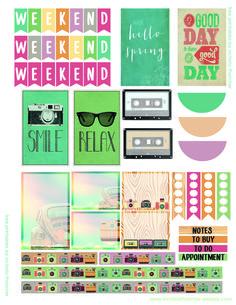 Good day summer planner printable