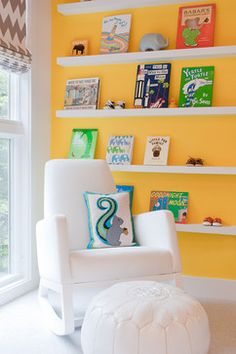 White Joya Rocker - Monte Design Modern | Contemporary Nursery Furniture. Modern Nursery Design Ideas, Pictures, Remodel, and Decor - page 14 #yellownursery #modernnursinggliders #genderneutralnurseries