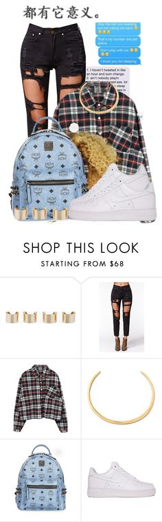 """""""U.S.N"""" by foreign-couture ❤ liked on Polyvore featuring Maison Margiela, Reverse, Alexis Bittar, MCM and NIKE"""