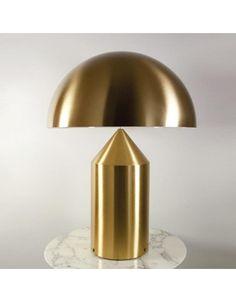 Oluce Atollo tafellamp, kleur goud Table Lamp, Lighting, Design, Home Decor, Table Lamps, Decoration Home, Room Decor, Lights