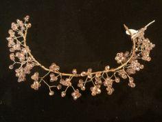 Corona comunión o novia. Piedras de strass en rosa Precio 75 €