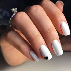 white nail designs Cute Nail Designs for Every Nail - Nail Art Ideas to Try 7 of 50 Red Nail Art, Purple Nail, Nail Art Diy, Red Nails, White Nail Art, Pretty Nail Art, Black Nails, Matte Black, Acrylic Nails Natural