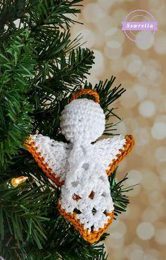 Granny Square Angel Ornament