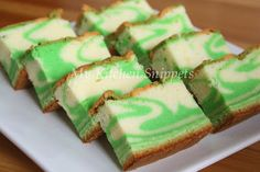 My Kitchen Snippets: Pandan Marble Cake