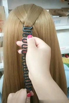 Vintage Hairstyles, Braided Hairstyles, Cool Hairstyles, Braid Tool, Hair Upstyles, Magic Hair, Hair Tools, Hair Styling Tools, Hair Videos