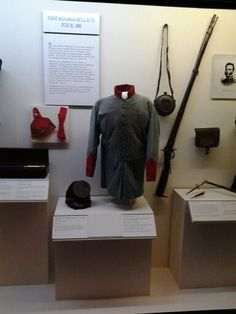 Civil War artifacts at the Museum of the Confederacy