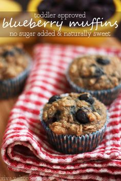 Blueberry muffins - toddler approved too! They're naturally sweetened so there's no sugar added!  #LittleChanges #ad #IC