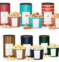 Pipoca Gourmet - Pipo - Brazil Popcorn Shop, Gourmet Popcorn, Popcorn Recipes, Gourmet Recipes, Popcorn Tins, Popcorn Packaging, Cool Packaging, Brand Packaging, Brand Design