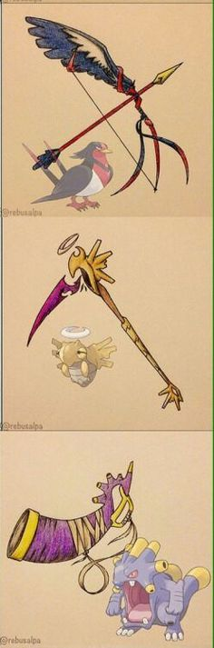 pokemon weapons - Google Search