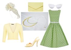 Pinup pretty in butter yellow pearls and peridot by drakestail on Polyvore featuring New Look, Christian Louboutin, Dorothy Perkins, Elizabeth and James and Suzanne Bettley
