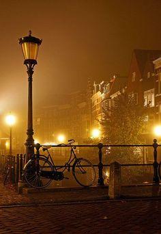 Foggy Night, Utrecht, The Netherlands photo via transylvania #Utrecht #travel #Holland