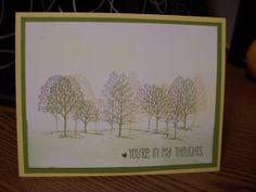 """New blog project using Stampin' Up!'s """"Lovely As A Tree"""" stamp set and """"A Dozen Thoughts"""" for the sentiments.  Follow along as we crease Everyday Occasion cards in Just 5 Minutes!!  at nanakcreates.stampinup.net."""