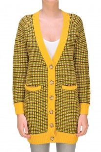 Kenzo - Cardigan maxi in maglia pesante :: Glamest Luxury Outlet Online Donna