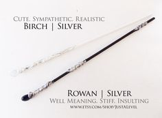 Black & White Fiction Inspired Wand Set Personality by JustALevel
