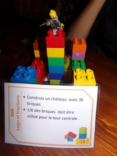 Fractions and Lego, task cards – I play, you play, we learn - Maths Worksheets Ks2, Ks2 Maths, Lego Math, Math 5, Lego Duplo, Fractions Équivalentes, Equivalent Fractions, Dividing Fractions, Teaching Fractions