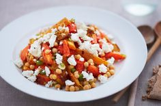 Sweet potato and crumbly feta cheese salad recipe