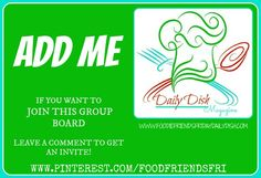 Leave a comment to be added to this group board!