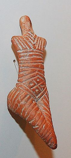 Figurine, Cucuteni-Trypillian culture (also known as Cucuteni culture, from Romanian; Trypillian culture, from Ukrainian; or Tripolye culture, from Russian) is a Neolithic archaeological culture which existed from approximately 4800 to 3000 BCE, from the Carpathian Mountains to the Dniester and Dnieper regions in modern-day Romania, Moldova, and Ukraine.