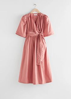 Voluminous Wrap Midi Dress - Dusty Pink - Midi dresses - & Other Stories Pink Midi Dress, Midi Dresses, Everyday Dresses, Fashion Story, Fitted Bodice, Dusty Pink, Wrap Dress, Clothes For Women, How To Wear