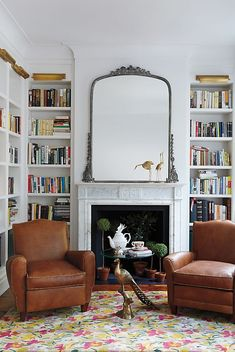 home design Gleaming Primrose Mirror My Living Room, Home And Living, Living Spaces, Kitchen Living, Modern Living, Home Library Design, House Design, Cozy Home Library, Home Library Rooms