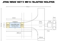 STAR WARS Rey's NN-14 Blaster Holster Blueprints