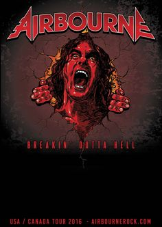 Airbourne is an Australian hard rock band formed in Warrnambool in 2003. Mainstay members are Joel O'Keeffe on lead vocals and lead guitar, his brother, Ryan O'Keeffe on drums, and David Roads on rhythm guitar and backing vocals.