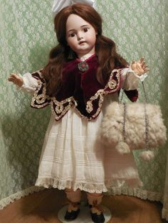 from louiseslittleladies on Ruby Lane Doll Toys, Baby Dolls, Teddy Bear Toys, Teddy Bears, Victorian Toys, Vintage Dolls, Vintage Stuff, Bisque Doll, Old Dolls