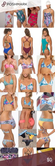 ISO OF JOLYN SWIMWEAR ISO TOPS: triangle, vents, tomcat, misfit.   BOTTOMS: softy, Brazilian, Kyle, Harley,    ONESIES: Gabriel, dayno, jordy, Scotty, rhys, ash, Murray, archer, heath, Kai.   I'm a size L/XL in tops  In Onesies I'm a size 26 or a 28  In bottoms I'm a size S I'm looking for the ones in the pictures but, if you have any Jolyn and think I would be interested don't hesitate to show me!! I'm very open to Jolyn's! I love them all! As always be sure to make offers on any of my…