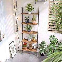 Tier Ladder Bookcase Industrial Ladder Shelf 5 Tier Bookshelf Rack, Wall Shelf for Living Room, Kitchen, Office