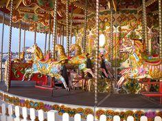 Wild ornate Merry-Go-Round (carousel) with Horses named Sara, Sammy, Nick, and Phillip, Palace Pier, Brighton, England, UK   Flickr - Photo Sharing!
