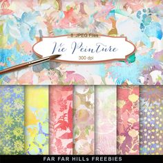 New Freebies Kit of Backgrounds - Vie Peinture:Far Far Hill - Free database of digital illustrations and papers