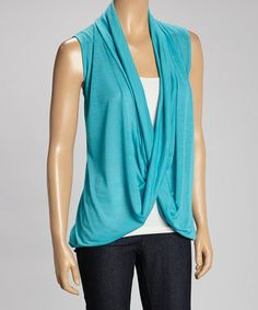 inspiration for diy cardi from tee- Another great find on #zulily! Deep Sea Drape Neck Top #zulilyfinds