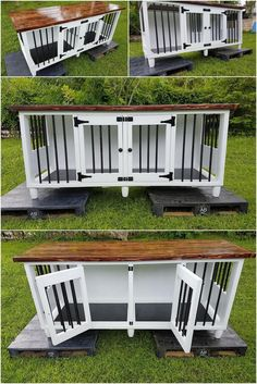 Plans to build your own Wooden Double Dog Kennel - DIY Plans - Medium size Wood. Plans to build your own Wooden Double Dog Kennel – DIY Plans – Medium size Wood Pallets Dog Ke Metal Dog Kennel, Wooden Dog Kennels, Dog Kennel Cover, Diy Dog Kennel, Custom Dog Kennel, Kennel Ideas, Diy Niche Chien, Dog Sleep, Building A Dog Kennel