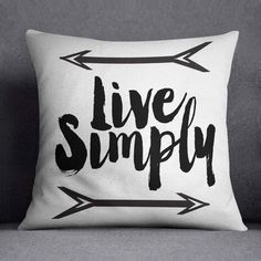 This black and white throw pillow says And so the adventure begins. Sure to spice up any room!  * I currently only offer these in 18 x 18