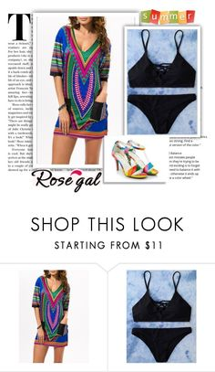 """""""Rosegal fashion for summer 25"""" by adorotic-1 ❤ liked on Polyvore featuring Summer, hot and sea"""