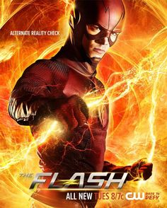 Barry (Grant Gustin) is electrifyingly awesome in this nifty new poster. WALLY FLIRTS WITH DANGER — Barry (Grant Gustin) teams up with Wells (Tom Cavanagh) to figure out a way […] The Flash Poster, New Poster, Live Action, Illustration Batman, Dc Comics, Flash Comics, The Flash Season 3, King Shark, Flash Tv Series