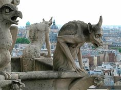 cathedral of Notre Dame in Paris. That lovely specimen on the right reminds me of one of my ex-in-laws.