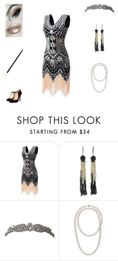 """""""catasstrophe, prohibition edition"""" by fashionistaax on Polyvore featuring Marina J., Christian Louboutin and Tiffany & Co."""