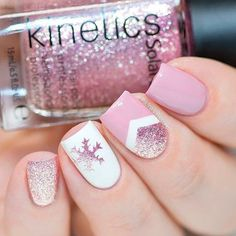 Pale Pink Nail Art For Winter ★ Easy, elegant and classy winter nails to celebrate Christmas and winter in general! Nails Unique And Beautiful Winter Nail Designs Chevron Nail Designs, Classy Nail Designs, Chevron Nails, Winter Nail Designs, Winter Nail Art, Cool Nail Designs, Winter Nails, Pastel Pink Nails, Cute Pink Nails