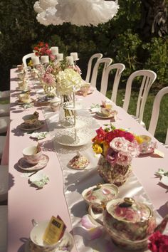 Tea Party for the Bridal Shower!
