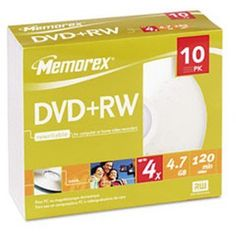 Memorex 4X Dvd+Rw Media by Memorex. $8.78. Memorex 4x DVD+RW Media 32025509 DVD Media