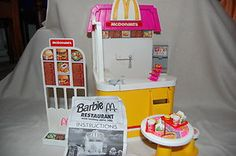 I loved my barbie McDonald's play set