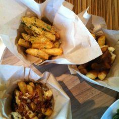 Fries X 3 @ Rogue - Poutine, Truffle Oil & Parmesan, Bacon & Gorgonzola
