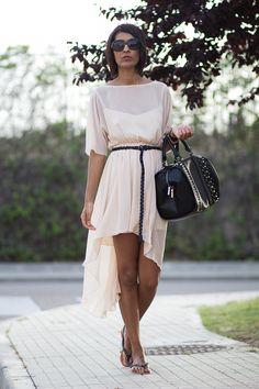 Sissy à la mode: Dress - Zara,   Bag - Zara, Sandals - Urban outfitters