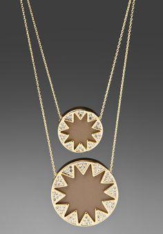 House of Harlow double sunburst necklace.